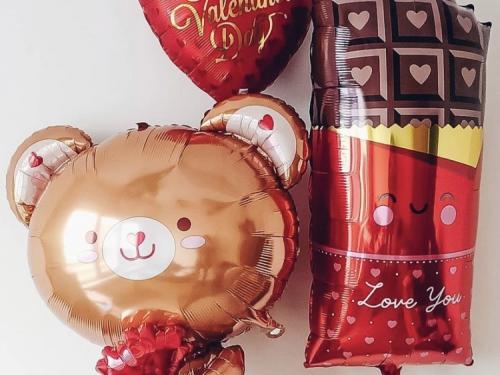 Композиция воздушных шаров Сладкий мишка