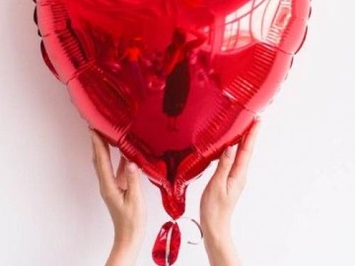 Воздушный шар с гелием сердце