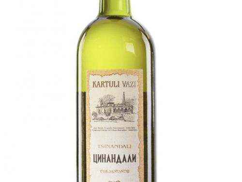 Вино Kartuli Vazi Цинандали белое сухое 750 мл