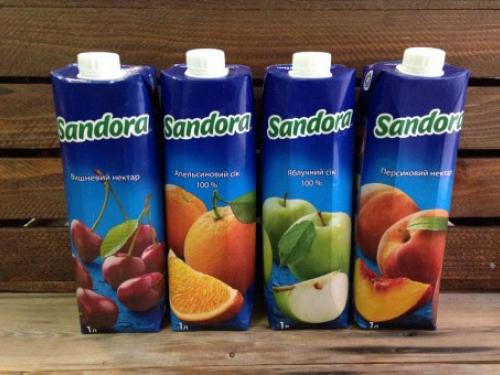 Сок апельсиновый Sandora 1l