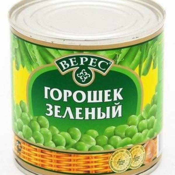 Горошек зелёный Верес 400 гр