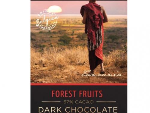 Чёрный шоколад с лесными ягодами Organic (Бельгия) 100 гр