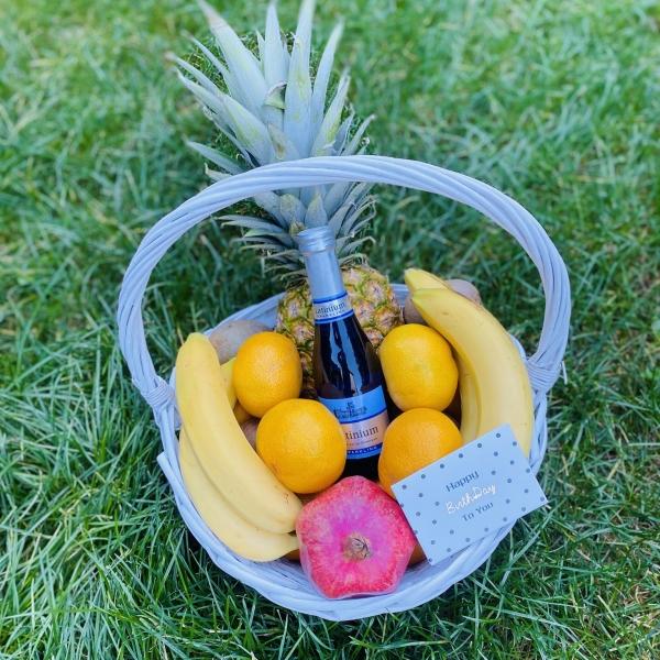 Корзина фруктов 5 кг с гранатом