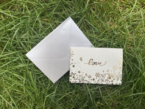 Поздравительная открытка Love с конвертом