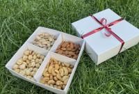 Подарочный набор «Царь Орех» 400 гр (кешью, фундук, фисташка, миндаль) белая коробка
