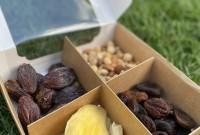 Подарочный набор «Арчибальд» 800 гр (манго king, финик королевский, курага шоколадная, микс орехов фундук, кешью, фисташка, миндаль)