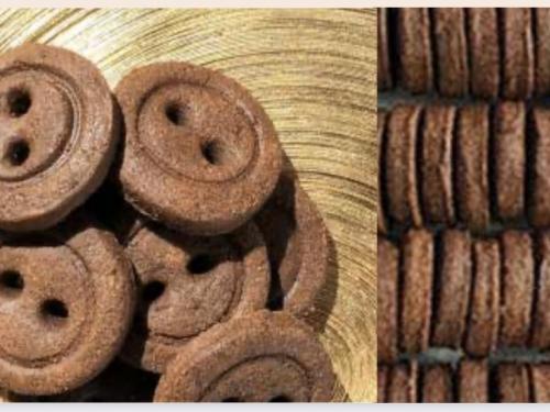 Натуральное печенье Пуговки какао 90 гр