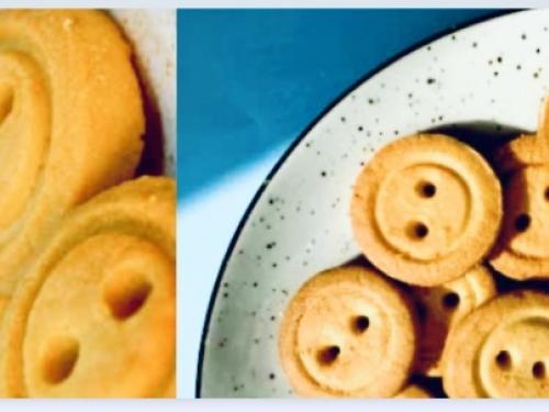 Натуральное печенье Пуговки ваниль 90 гр