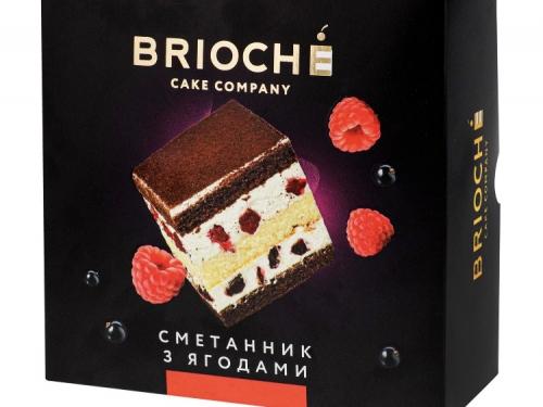 Торт Сметанник с ягодами 550 гр